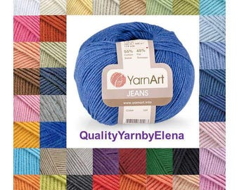 YARN ART Jeans- cotton 55%-acrylic 45- 50g 160m (175 yards)-turkish yarn