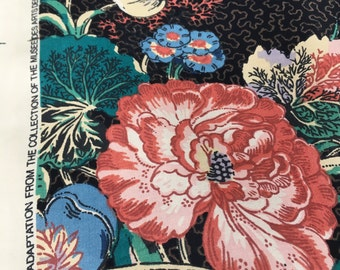 """Vintage Jay Yang floral """"Aclelaide"""" from the Musee des Arts Decoraitfs collection, Paris. In black or Gray"""