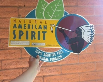 Natural American Spirit Collectible Cigarette Tin Bar sign