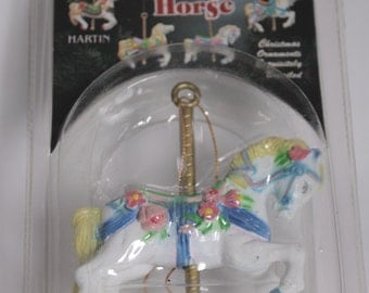 SALE  - Vintage Carousel Horse Christmas Tree Hanging