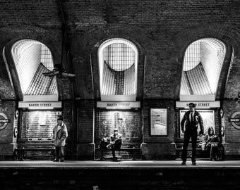 London photography, street photography, baker street, underground Station, fine art photography, london photos, London Wall Art, Home Decor