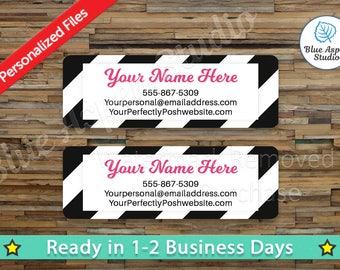 Generic Labels Stickers Printable Return Address Label Logo Digital Printed Personalized Custom PDF Sticker Vistaprint GEN-AL103