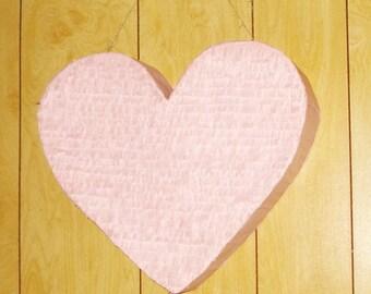 Light Pink Heart Pinata. wedding pinata. anniversary pinata. Valentine's Day pinata. large pinata.