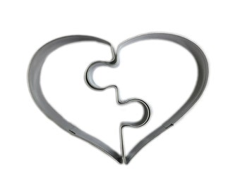 Valentines Day Heart Puzzle Cookie Cutter