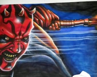 darth maul portrait mural