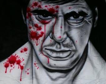 scarface portrait mural