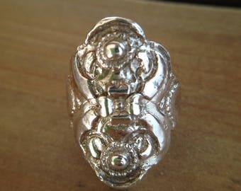 Handmade original Silver saddle ring.