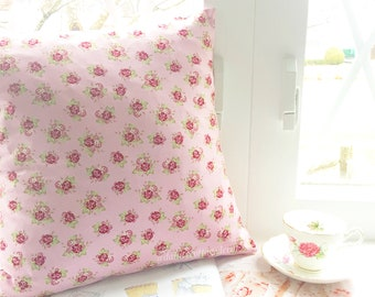Blushing Blackberry Rose, pillow insert, country cottage style pillow cover, shabby chic pillow cover