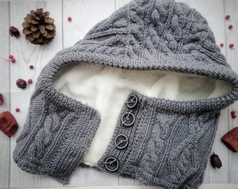 knitted men's hood