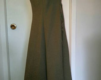 """Green """"top"""" medieval dress laced Green Laced Medieval """"Top"""" Dress"""