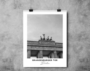 Brandenburg Gate - Black and White Print - Berlin - A4/A3 - Postcard / Print / Poster / Landmark / Germany
