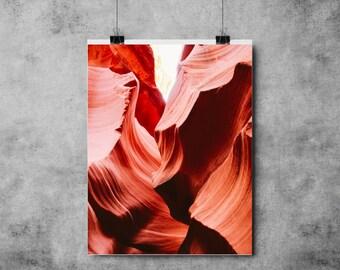 Canyon - Red - (A4/A3) Canyon / Tropical / Summer / Desert / Print