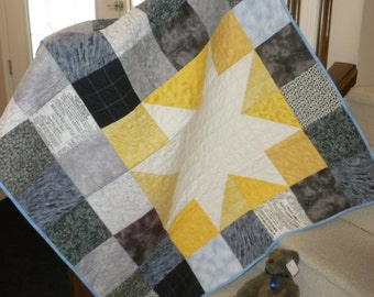 Yellow Sunburst Quilt
