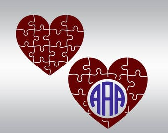 Valentine svg, heart Puzzle svg, Love svg, Valentine's day svg,  SVG Files, Cricut, Cameo, Cut file, Files, Clipart, Svg, DXF, Png, Pdf, Eps