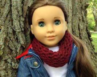2 Doll Infinity/Eternity Scarves Maroon and Burgundy Sprinkle