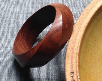 Vintage turned wood bangle
