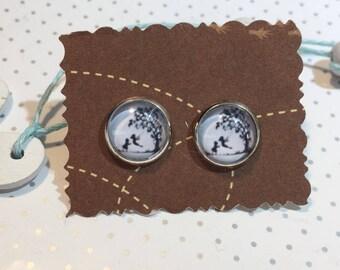 Sister girlfriend ear studs earrings