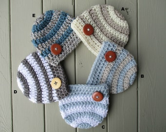 Crochet Baby Hat Baby Crochet Hat Newborn Boy Hat Baby Boy Hat Knitted Baby Boy Hat Baby Boy Beanie Baby Boy Newborn Newborn Crochet Hat