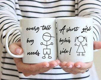 Short Girls Tall Boys Short Girl Mug Personalized Mug Custom Mug Couple Mug mug for men Love Mug Gifts Under 20 ETFdouble