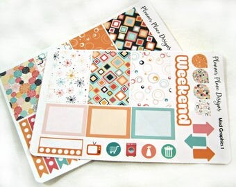 Planner Stickers - Weekly Planner Stickers - Happy Planner Stickers - Day Designer - Functional Stickers - Mod Graphics 1