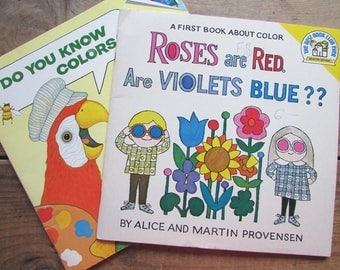Book About Colors Children's Book Set Roses are Red Are Violets Blue? Do You Know Colors?