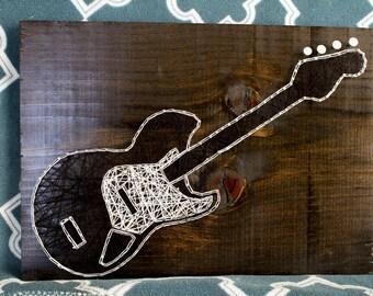 12x16'' Electric Guitar String Art