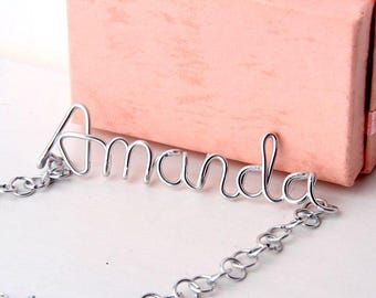 Custom Wire Name Necklace Personalized