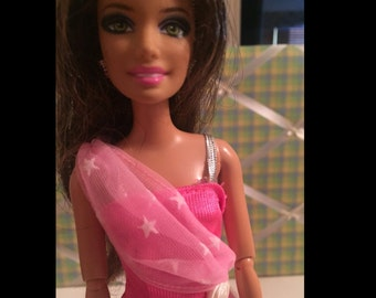 Barbie Doll Long Pink Dress