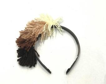 Girls Yarn Headband-Girls Shaggy Headband-Girls Ombre Headband-Girls Headband-Girls Hair Accessories