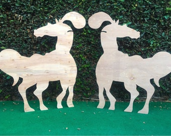 4 ft Tall | Regal Horse Wooden Silhouette (1)