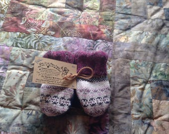 PANCAN Toddler sized fundraiser upcycled sweater mittens