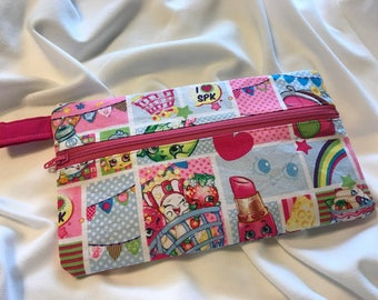 Shopkins zipper pouch