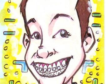 Cartoon Portrait Sketch Card