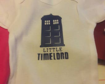 Little timelord onsie