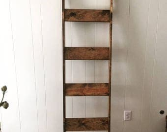 Rustic Wood Blanket Ladder | Towel Hanger | Farmhouse Decor | Accent Piece - ON SALE