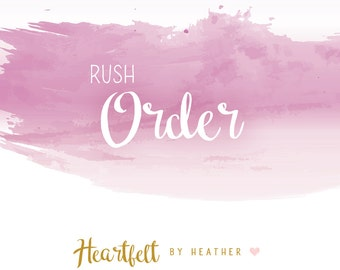ADD ON Rush Order