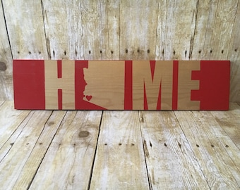 Custom State Home Sign