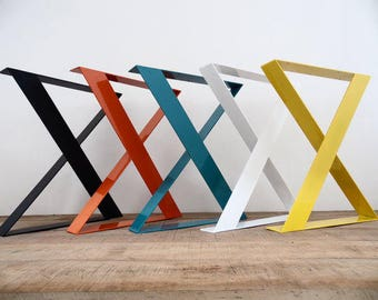 Metal Table Legs,Beautiful Modern Look,X Shaped,Custom Sizes,Any Color,Handmade.