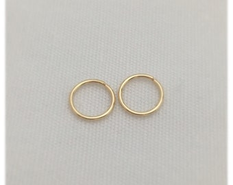 Snug Cartilage Piercings 4 -7 mm 24-22 Ga Hoop Earring Sterling Silver .925 Rose Gold Fill / 14k Y Gold Fill Hex Tragu Body Piercing Jewelry