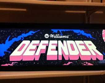 Defender Arcade Style Marquee Light Box