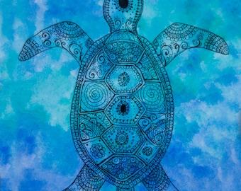 Turtle Mandala Etsy