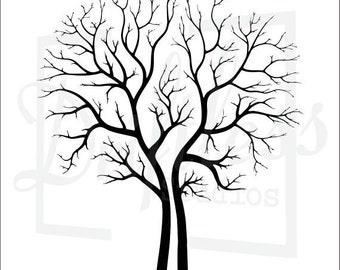 Bare Tree Stencil, Family Tree Stencil, Tree Stencil, Tree Branch Stencil