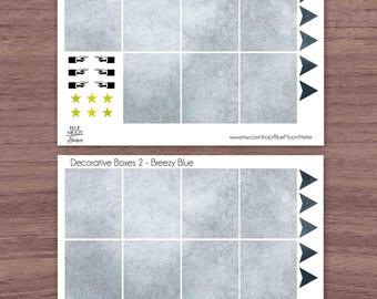 Breezy Blue Erin Condren Planner Weekly Sticker Set