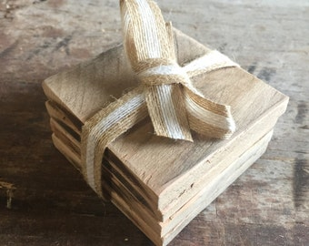 Reclaimed Wood Coasters - Set of 4