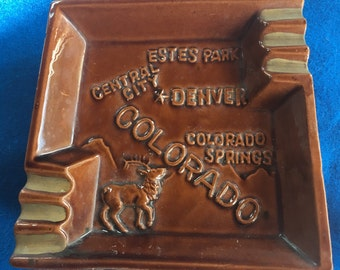 Vintage Colorado  Souvenir Ashtray