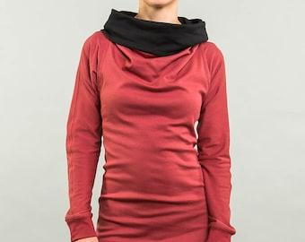 Kolla 4 in 1. long-sleeved. Rusty red/black