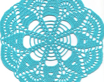 Vintage Handmade Crochet Doily Lace Lacy Doilies Wedding Decoration Home Decor Flower Mandala Dream Catcher Crocheted Round Turquoise