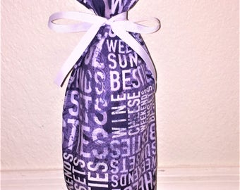 Wine Print Gift Bag