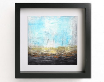 Digital download printable art landscape painting square modern art blue wall decor art abstract print artwork interior design home decor