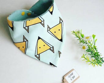 Fox Dribble Bib, Bandana Bib, Baby Bib, Toddler Bib, Mint Bib, Baby Dribble Bib, Baby Bib, Girls Bib, Boys Bib